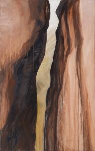 Along the Siq, Petra, Jordan acrylic on canvas 122X75cm