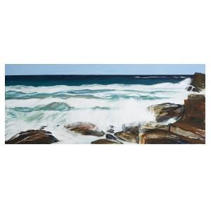 Gerroa Rocks, acrylic on canvas, 60X150cm