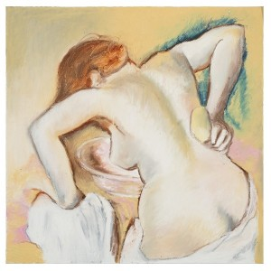 After Degas oil stick on canvas, 75X75cm