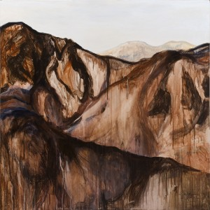 View from el Deir Petra, acrylic on canvas, 122x122 cm