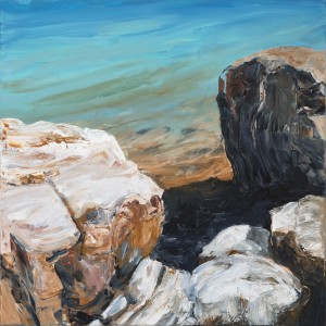 Fannie Bay Rocks 3 , acrylic on canvas, 78x78 cm,jpg