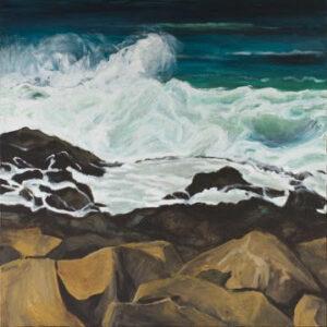 Kiama Rockpool acrylic on canvas 100 cm x 100 cm