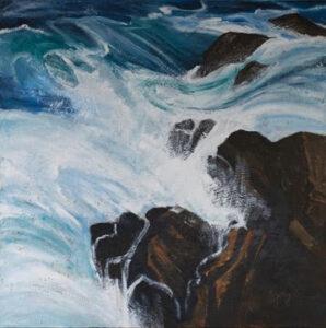 Malta Bay Rocks 1 acrylic on canvas 75 cm x 75 cm